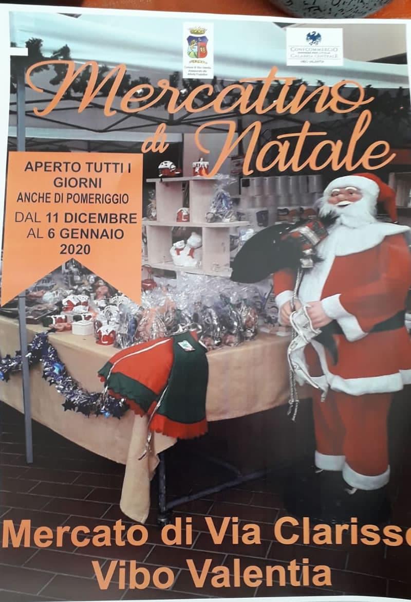 Mercatino di Natale a Vibo Valentia dall'11 Dicembre 2019 al 6 Gennaio 2020 locandina