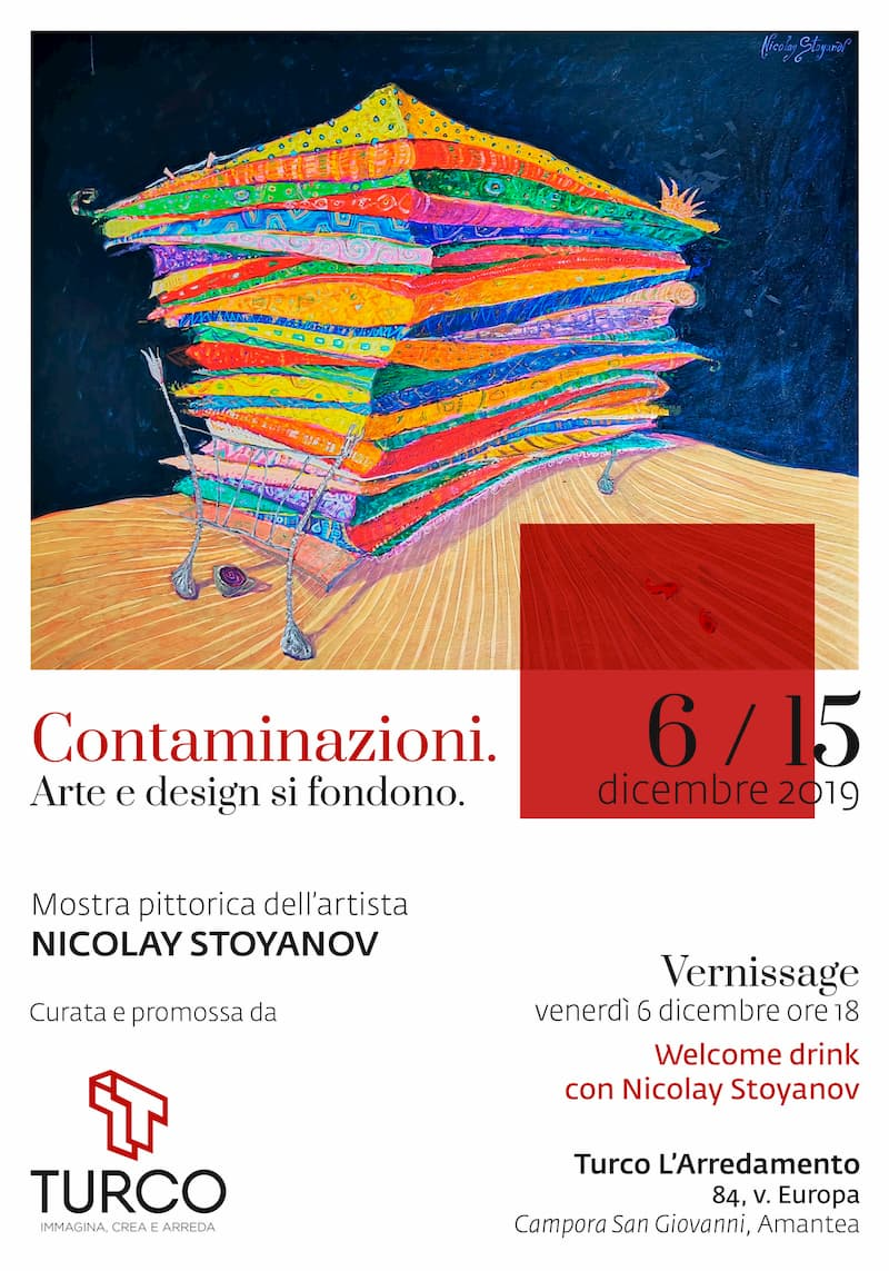 Mostra pittorica di Nicolay Stoyanov dal 6 al 15 Dicembre 2019 ad Amantea locandina