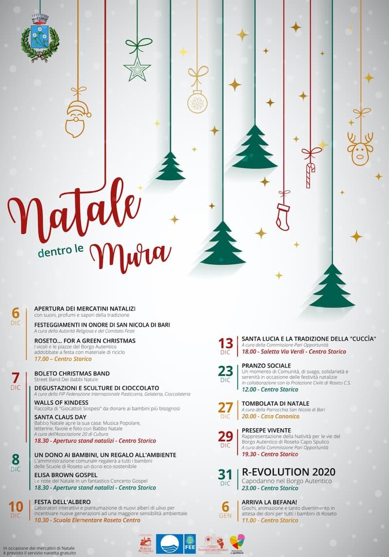 Natale dentro le mura di Roseto Capo Spulico dal 6 dicembre 2019 al 6 gennaio 2020 locandina