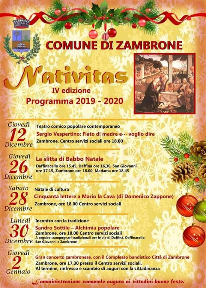 Nativitas 2019 2020 a Zambrone locandina