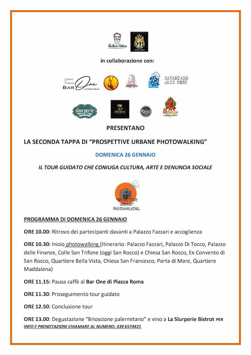 Photowalking 26 Gennaio 2020 a Catanzaro locandina