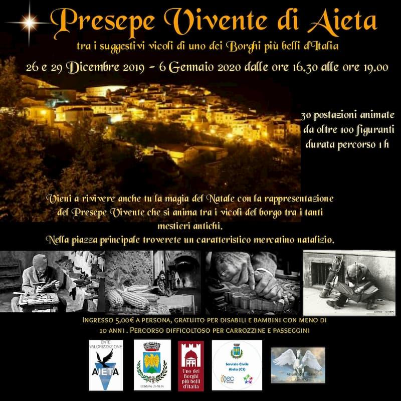 Presepe Vivente ad Aieta 2019 - 2020 locandina