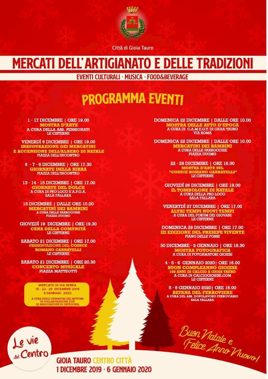 Programma mercati dell'artigianato e delle tradizioni' - Comune di Gioia Tauro 2019 - 2020
