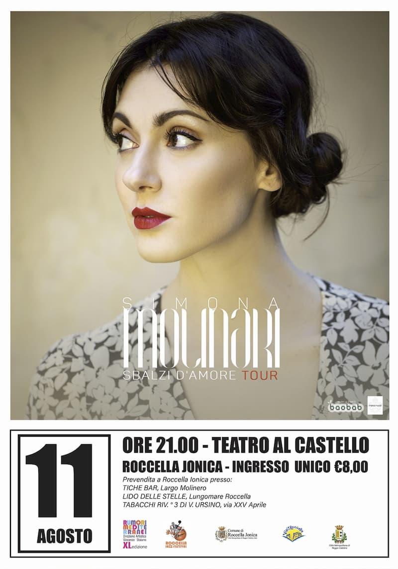 Roccella Jazz Festival con Simona Molinari 11 Agosto 2020 locandina