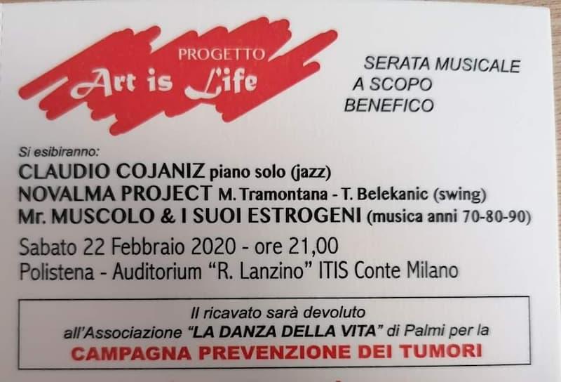 Art Is Life 22 Febbraio 2020 a Polistena locandina