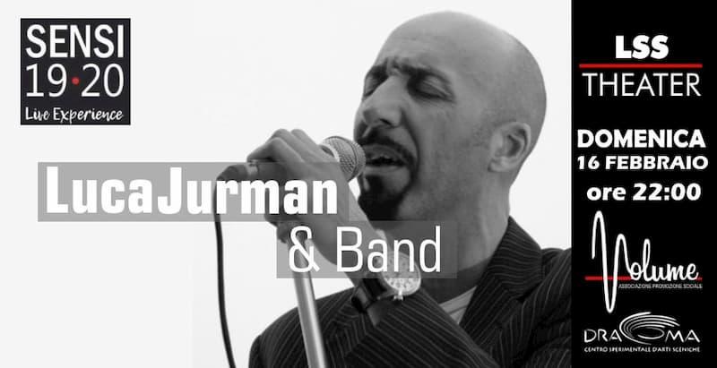 Concerto Luca Jurman & band 16 Febbraio 2020 a Polistena locandina