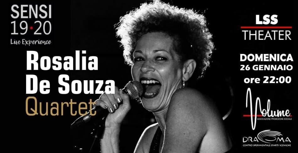 Concerto Rosalia De Souza Quartet 26 Gennaio 2020 a Polistina locandina