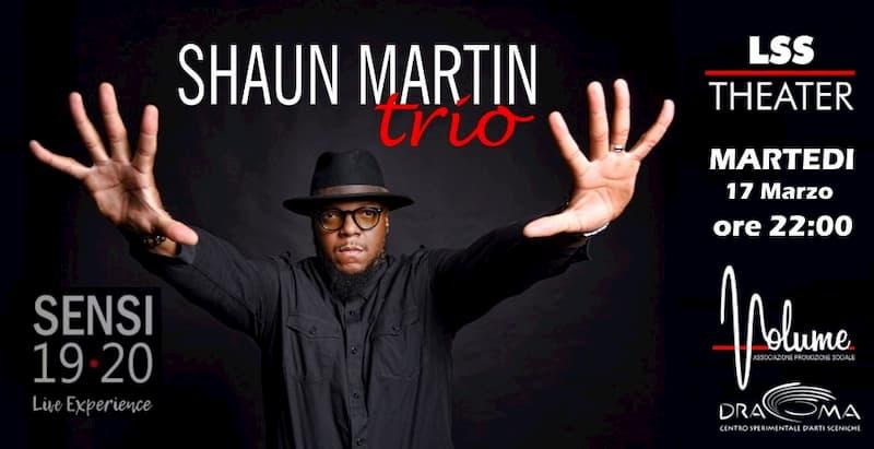 Concerto Shaun Martin trio 17 Marzo 2020 a Polistena locandina