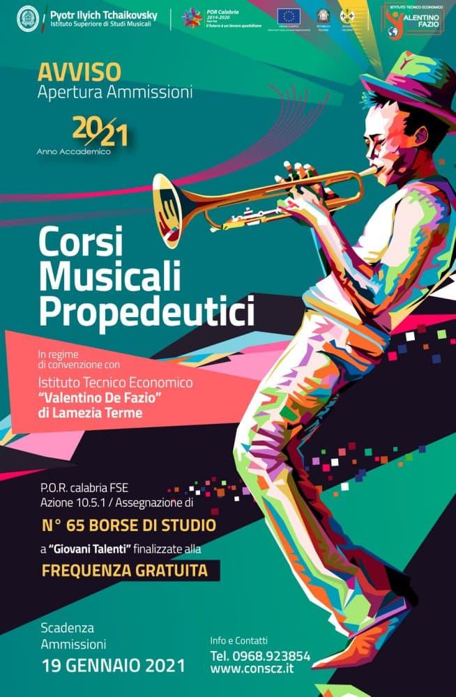 Corsi di musica gratuiti a Lamezia Terme 2021 locandina