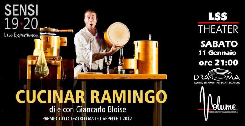 Cucinar Ramingo spettacolo teatrale + cena buffet 11 gennaio 2020 a Polistena locandina