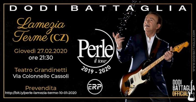 Dodi Battaglia Perle - Mondi senza età 27 Febbraio 2020 a Lamezia Terme locandina