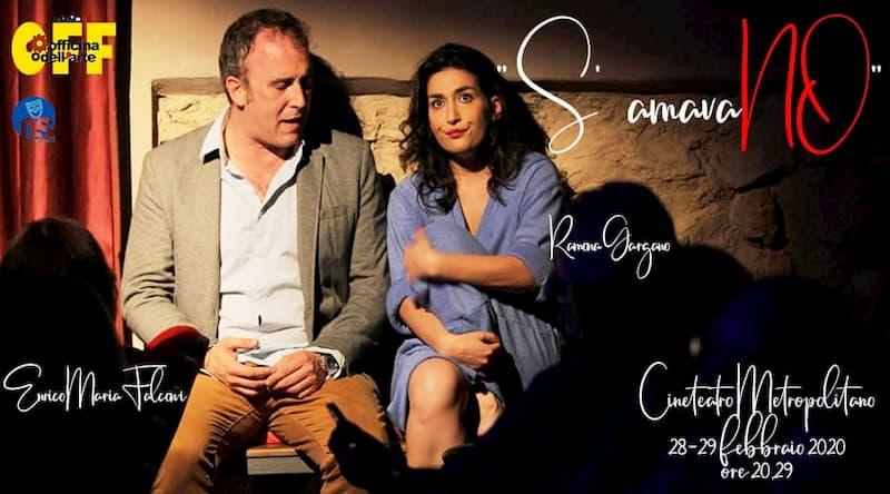 Gargano-Falconi in S'amavaNo 28 e 29 Febbraio 2020 a Reggio Calabria locandina