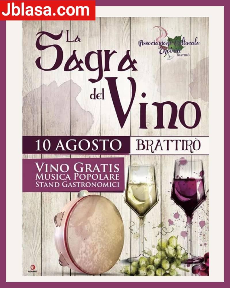 Sagra del Vino a Brattirò di Drapia il 10 Agosto 2020
