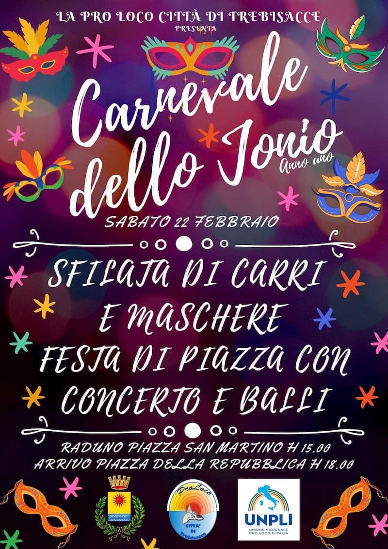 Carnevale di Trebisacce 2020 - Pro loco Trebisacce 22 Febbraio 2020 locandina