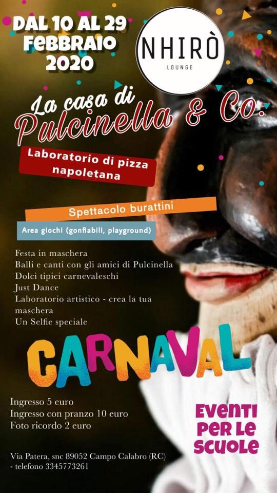 La Casa di Pulcinella & Co - il Carnevale al Nhirò dal 10 al 29 Febbraio a Campo Calabro locandina