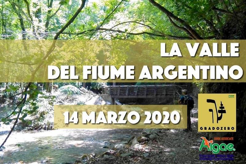 La Valle del Fiume Argentino 14 Marzo 2020 Orsomarso locandina