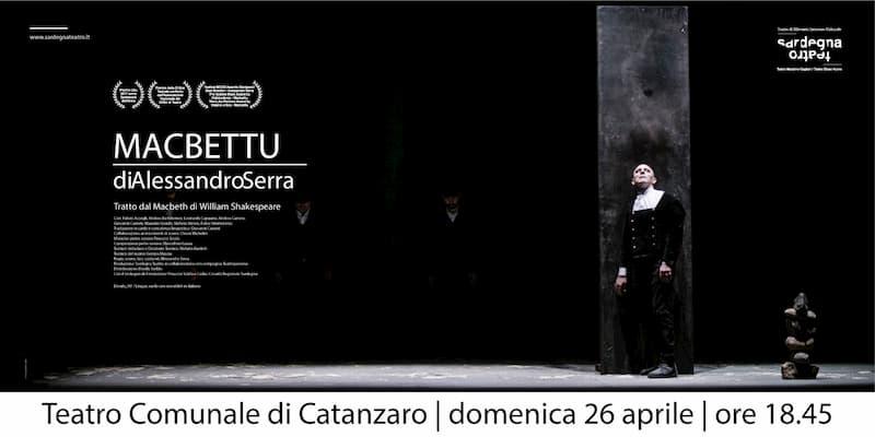 Macbettu di Alessandro Serra 26 Aprile 2020 a Catanzaro locandina