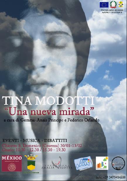 Mostra fotografica Una Nueva Mirada di Tina Modotti a Cosenza 2020 locandina