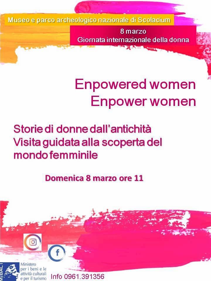 Scolacium al femminile-visita guidata 8 Marzo 2020 a Borgia locandina