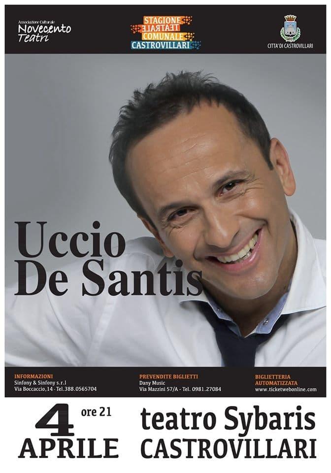 Uccio De Santis 4 Aprile 2020 a Castrovillari locandina