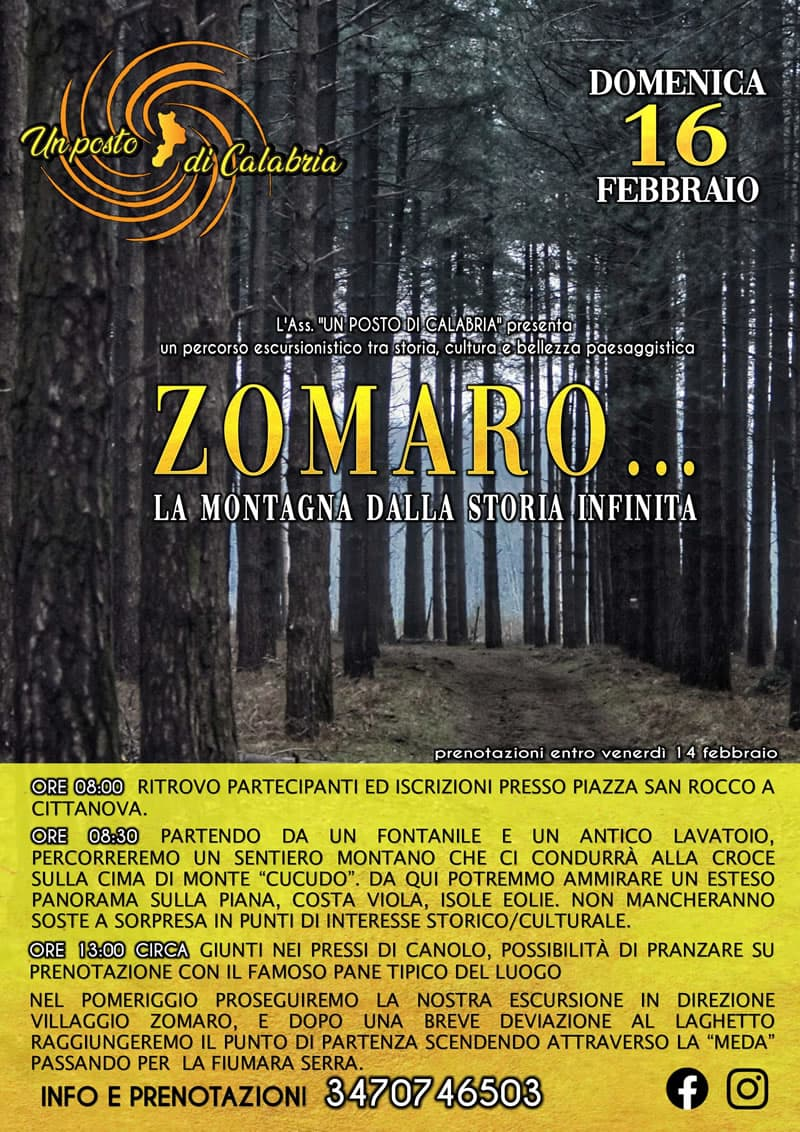 Zomaro, la montagna dalla storia infinita 16 febbraio 2020 locandina