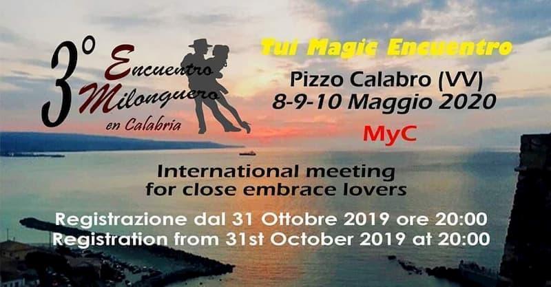 3° Encuentro Milonguero en Calabria - 2020 - Pizzo Calabro