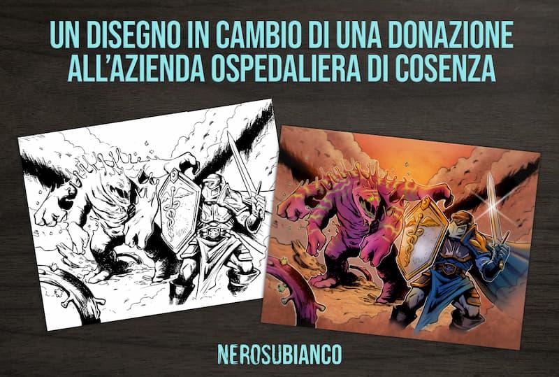 Arte contro il Coronavirus un disegno in cambio di una donazione all'Azienda Ospedaliera di Cosenza
