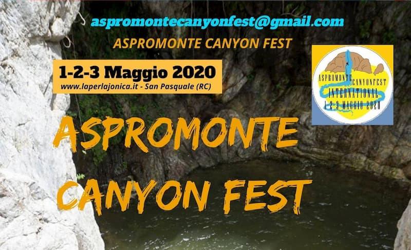 Aspromonte Canyon Fest 1 2 3 maggio 2020 locandina