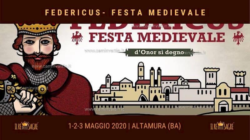 Festa medievale Federicus - Altamura Maggio 2020 locandina