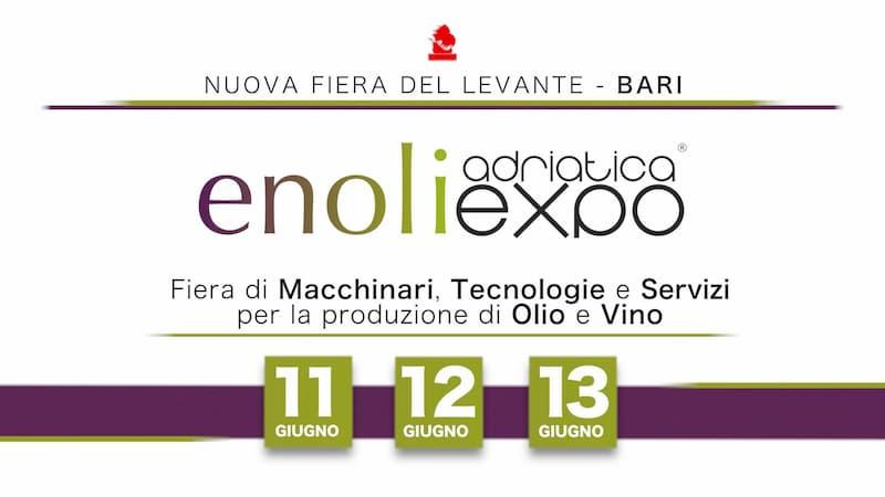 Fiera EnoliExpo 2020 a Bari locandina