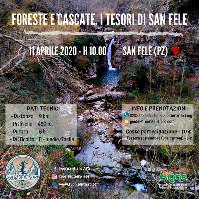 Foreste e Cascate Tesori di San Fele 11 Aprile 2020 a San Fele locandina