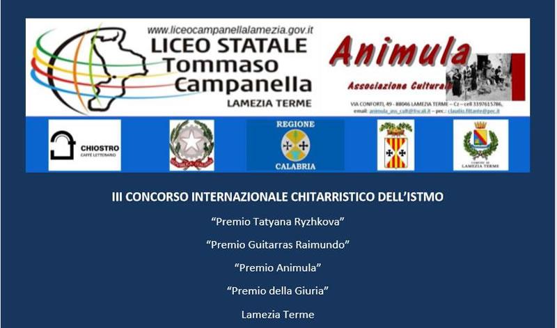 III Concorso Internazionale Chitarristico dell'Istmo 15 e 16 Luglio 2020