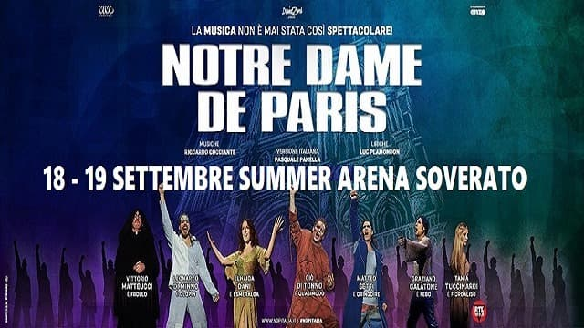 Notre Dame De Paris 18-19 Settembre 2020 Summer Arena Soverato locandina