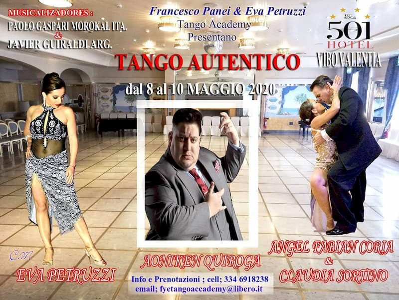 Tango autentico dall'8 al 10 Maggio 2020 a Vibo Valentia locandina