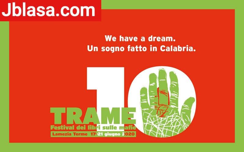 Trame.10 – Festival dedicato ai libri sulle mafie a Lamezia Terme torna il 17 giugno 2020