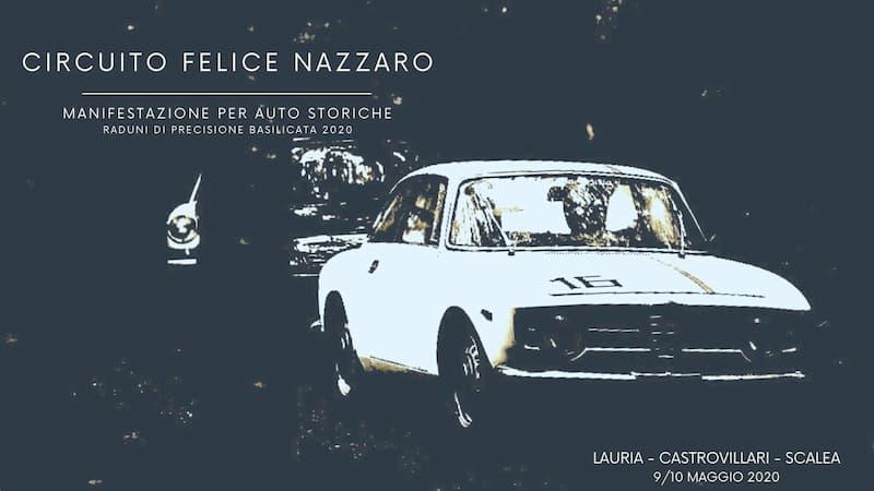 VII Rievocazione Storica Circuito Felice Nazzaro 9 e 10 Maggio 2020 a Lauria locandina