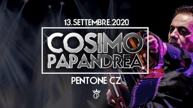 Cosimo Papandrea in Concerto a Pentone 13 settembre 2020 locandina