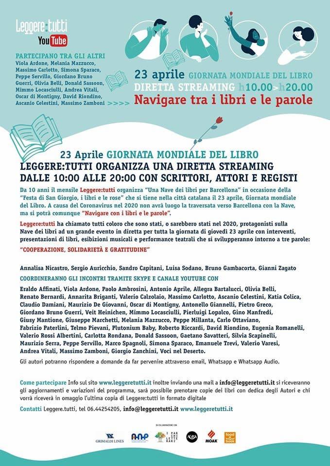 Una Nave dei libri per Barcellona leggeretutti 2020 locandina