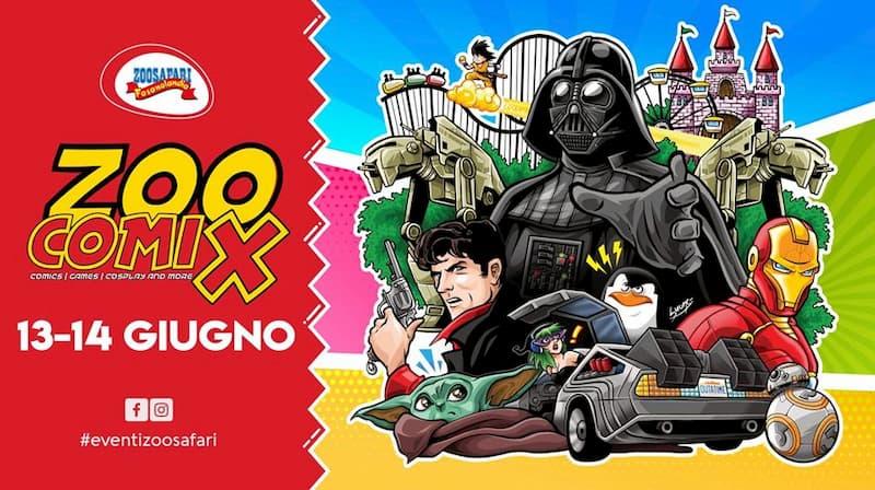 Zoocomix - allo Zoosafari tornano i supereroi 13 e 14 giugno 2020 a Fasano locandina