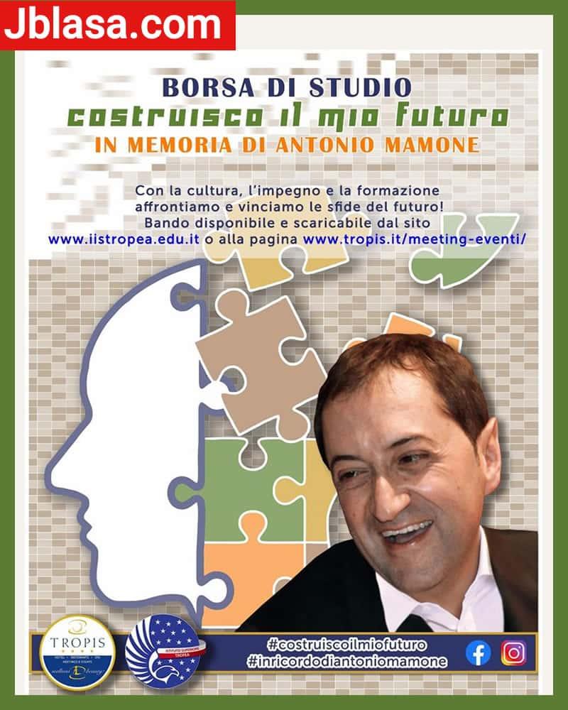 Borsa di Studio Antonio Mamone 26 Agosto 2020 a Tropea locandina