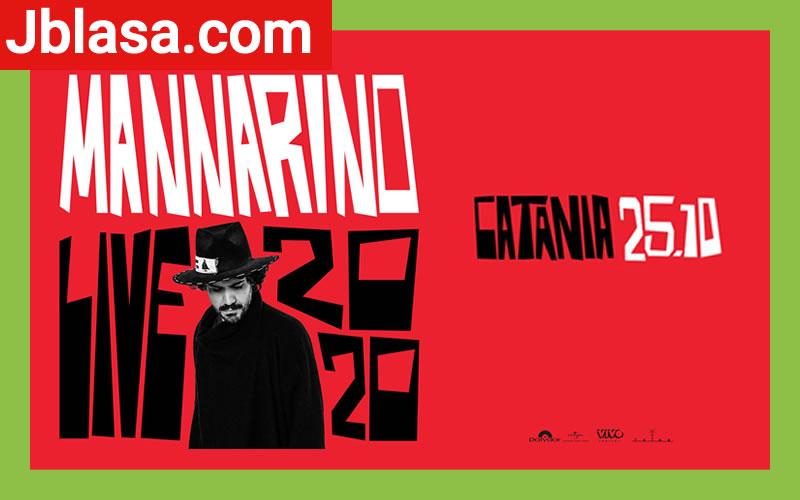 Mannarino in concerto a Catania 25 Ottobre 2020
