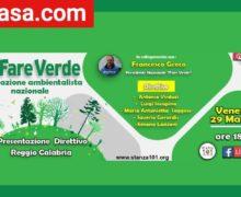 Presentazione Fare Verde Reggio Calabria 29 Maggio 2020 locandina
