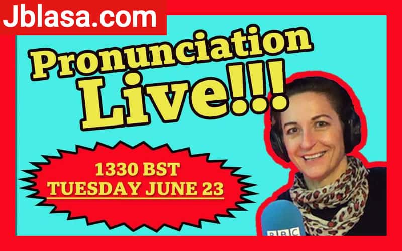 Pronunciation Live BBC Learning English 23 june 2020 locandina