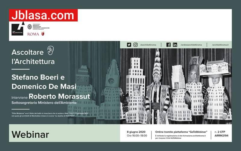 Ascoltare l'Architettura con Stefano Boeri e Domenico De Masi