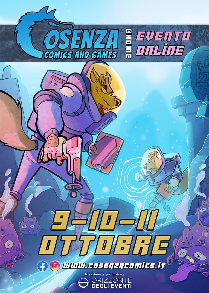 Cosenza Comics and Games 9-10-11 Ottobre 2020 locandina