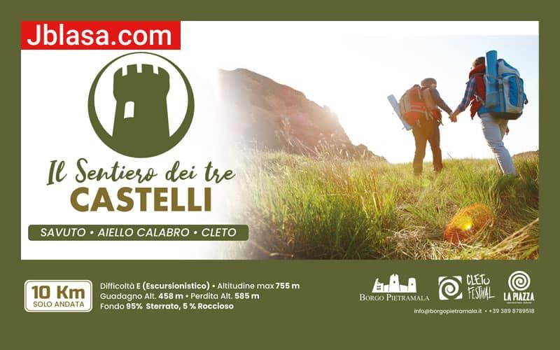 Il Sentiero dei tre castelli Savuto Aiello Calabro Cleto