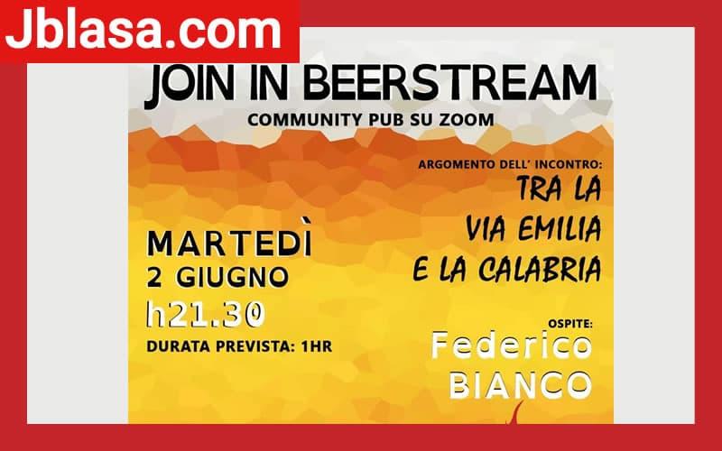 Join In Beerstream Community Pub 2 giugno 2020 a Cosenza locandina