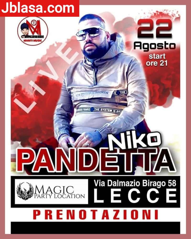 Niko Pandetta 22 Agosto 2020 a Lecce