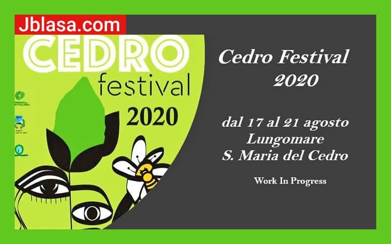 Cedro Festival 2020 - L'evento che parla al Mediterraneo!