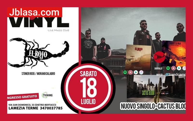 El Rojo LIVE at Vinyl - Lamezia Terme 18 luglio 2020
